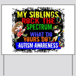 Rock Spectrum Autism Yard Sign