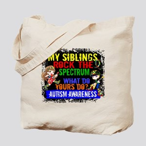 Rock Spectrum Autism Tote Bag