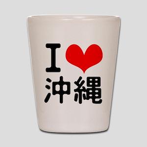 I Love Okinawa Shot Glass