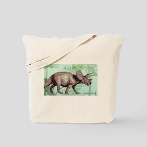 2008 Germany Triceratops Postage Stamp Tote Bag