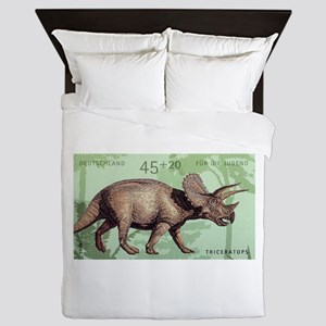2008 Germany Triceratops Postage Stamp Queen Duvet