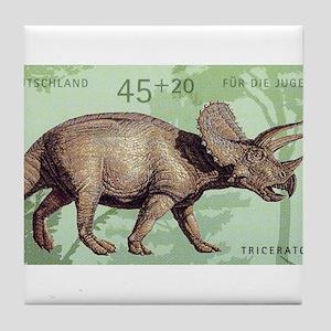 2008 Germany Triceratops Postage Stamp Tile Coaste