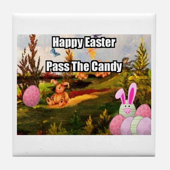 Easter Candy Tile Coaster