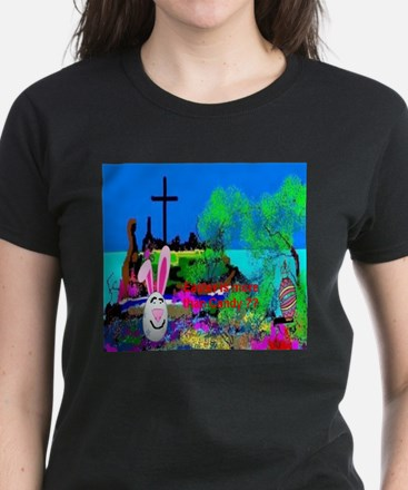 Christians Easter Candy Women's Dark T-Shirt