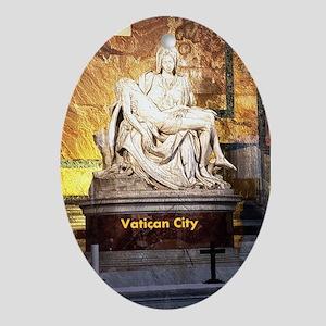 Vatican City Ornament (Oval)