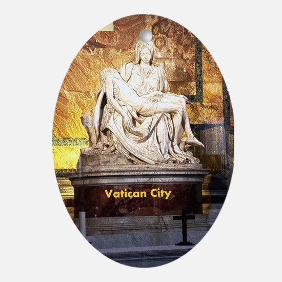 Vatican City Ornament (Oval)