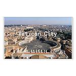 Vatican City Sticker (Rectangle 50 pk)
