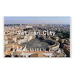 Vatican City Sticker (Rectangle 10 pk)