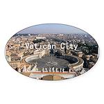 Vatican City Sticker (Oval 10 pk)