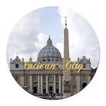 Vatican City Round Car Magnet