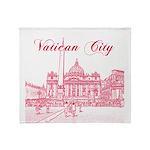 Vatican City Throw Blanket