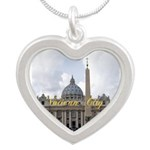 Vatican City Silver Heart Necklace