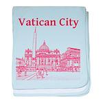 Vatican City baby blanket