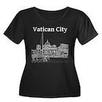 Vatican City Women's Plus Size Scoop Neck Dark T-S