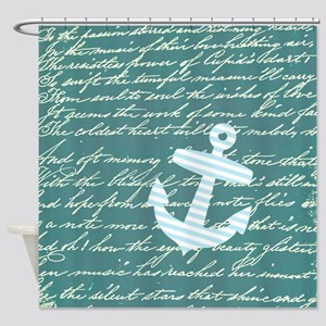 Anchor and handwriting Shower Curtain