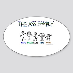THE ASS FAMILY Rectangle Sticker