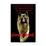 German Shepherd Mini Poster Print
