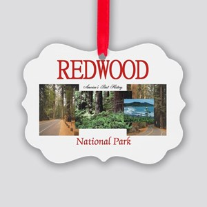 Redwood Americasbesthistory.com Picture Ornament