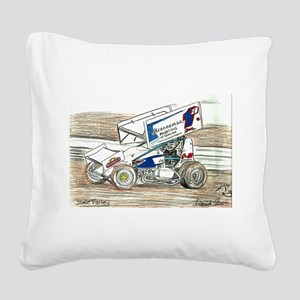 Sprints at Lincoln Square Canvas Pillow