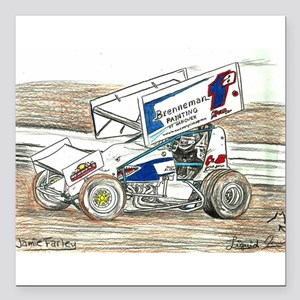 """Sprints at Lincoln Square Car Magnet 3"""" x 3"""""""