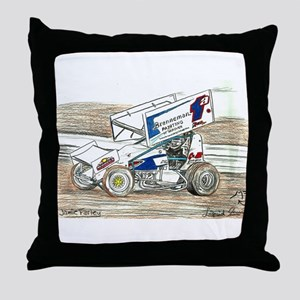 Sprints at Lincoln Throw Pillow