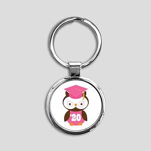 2020 Owl Graduate Class Round Keychain