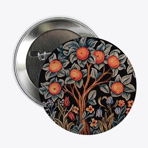"Orange Tree of Life 2.25"" Button"