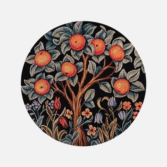 "Orange Tree of Life 3.5"" Button"