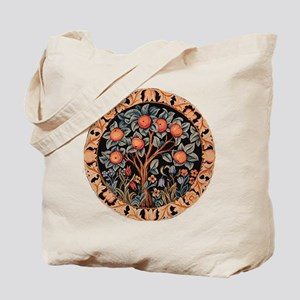 Orange Tree of Life Tote Bag