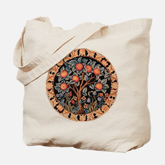 Orange Tree of Life Tote Bag