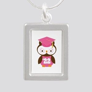 2022 Owl Graduate Class Silver Portrait Necklace