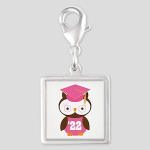 2022 Owl Graduate Class Silver Square Charm