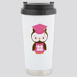 2022 Owl Graduate Class Stainless Steel Travel Mug
