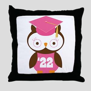 2022 Owl Graduate Class Throw Pillow