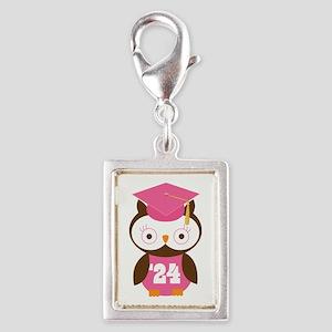 2024 Owl Graduate Class Silver Portrait Charm