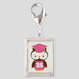 2025 Owl Graduate Class Silver Portrait Charm