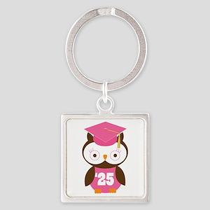 2025 Owl Graduate Class Square Keychain