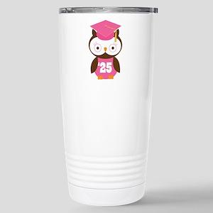 2025 Owl Graduate Class Stainless Steel Travel Mug