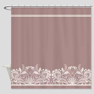 Pretty Lace Ornate Shower Curtain