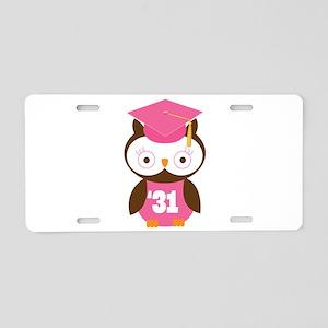 2031 Owl Graduate Class Aluminum License Plate
