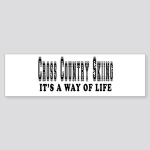 Cross Country Skiing It's A Way Of Life Sticker (B