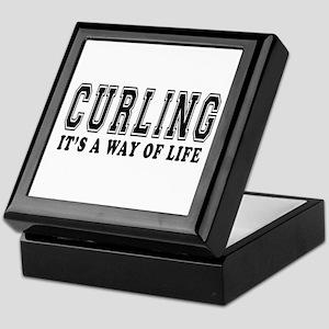 Curling It's A Way Of Life Keepsake Box