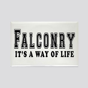 Falconry It's A Way Of Life Rectangle Magnet