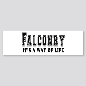 Falconry It's A Way Of Life Sticker (Bumper)