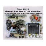 1-25 fallen 15:13 Throw Blanket