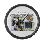 1-25 fallen 15:13 Large Wall Clock