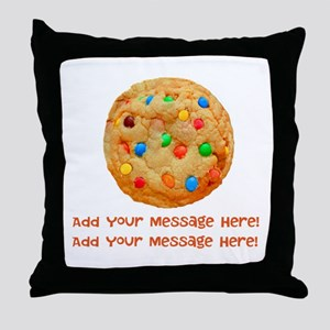 Personalize It, Chocolate Cookie Throw Pillow
