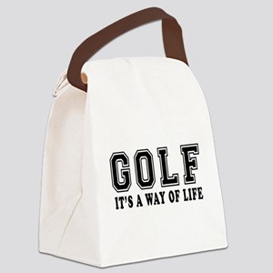 Golf It's A Way Of Life Canvas Lunch Bag