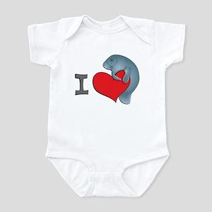 I heart manatees Infant Bodysuit
