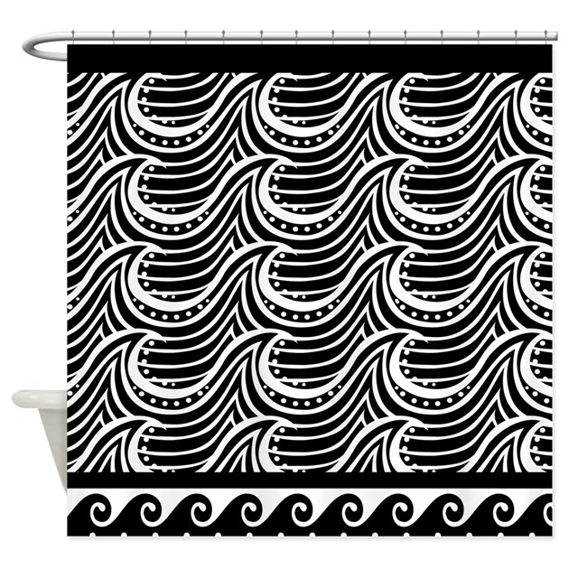 Art Deco Ocean Wave Shower Curtain By MainstreetHomewares